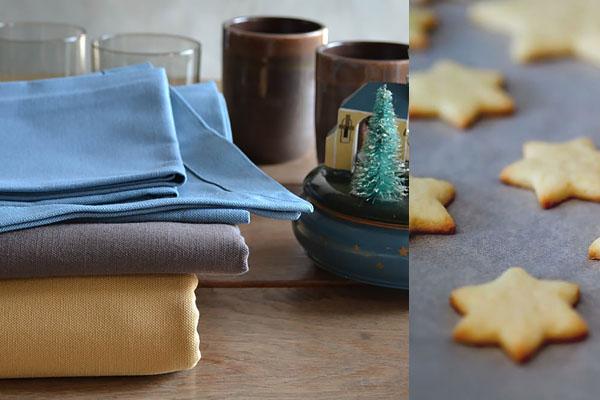 Tischdecke Glitter silber-naturell (halbtransparent), Tischläufer graphitfarben, Glamourkollektion Cottona